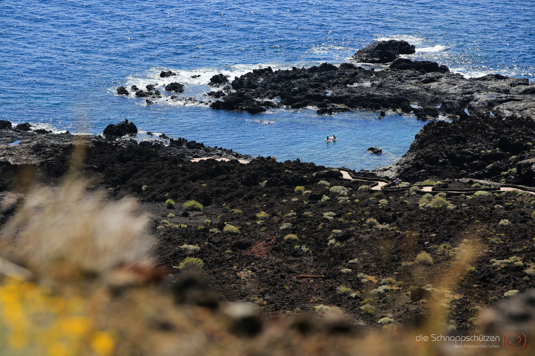 die beinahe einzige Möglichkeit, auf El Hierro im Meer zu baden.
