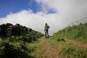 Hochebene auf El Hierro mit Passatwolken