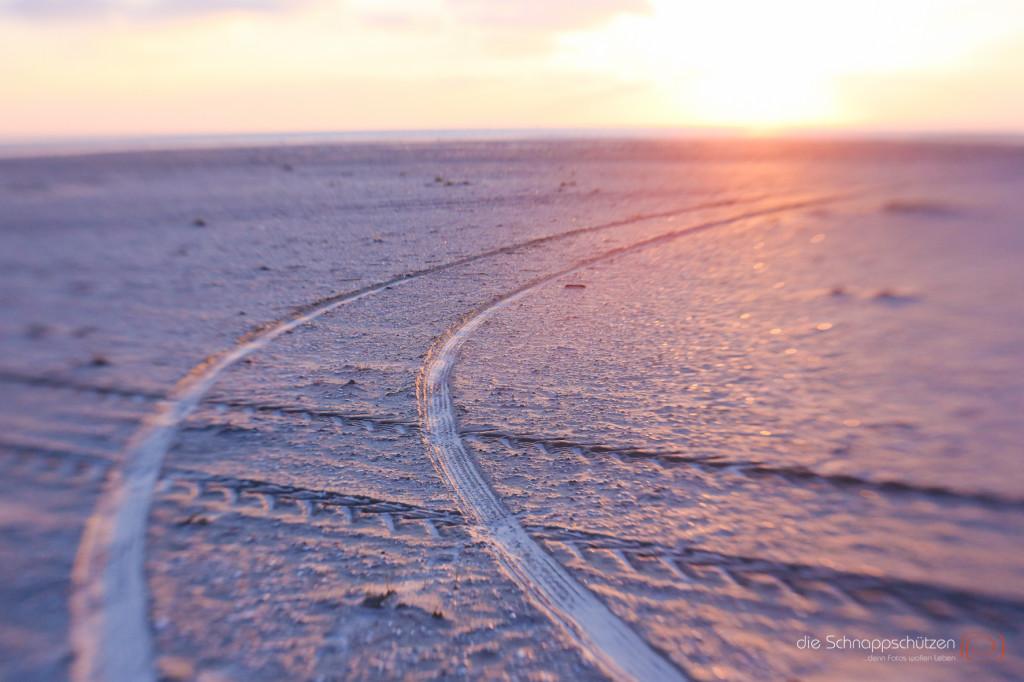 Spuren im Sand auf Amrum