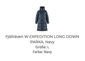 Fjällräven W EXPEDITION DOWN JACKET, Navy
